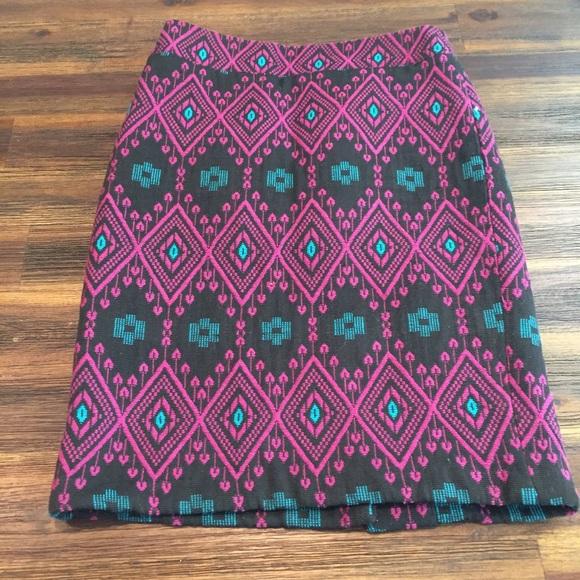 1e3e440de1 Ann Taylor Dresses & Skirts - Ann Taylor Aztec Print Pencil Skirt